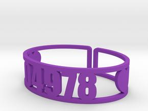 Matoaka Zip Cuff in Purple Processed Versatile Plastic