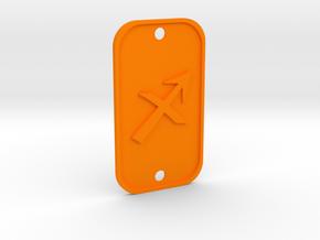 Sagittarius (The Archer) DogTag V1 in Orange Processed Versatile Plastic