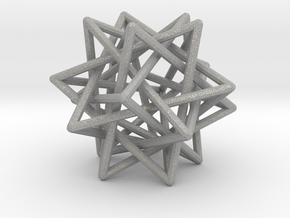 Interlaced Tetrahedrons 3 Inch x 3 Inch in Aluminum