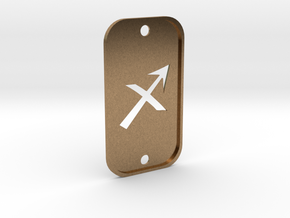 Sagittarius (The Archer) DogTag V2 in Natural Brass