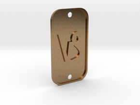 Capricorn (The Mountain Sea-goat) DogTag V1 in Natural Brass