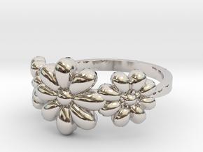 3 Flowers Ring in Platinum