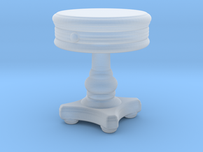 Miniature Sonoma Round Side Table  in Smooth Fine Detail Plastic: 1:48 - O