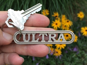 Ultra Marathon Keychain  in Stainless Steel