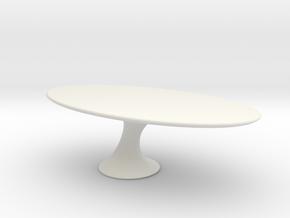 Miniature Reef Table - Cattelan Italia in White Natural Versatile Plastic: 1:48 - O