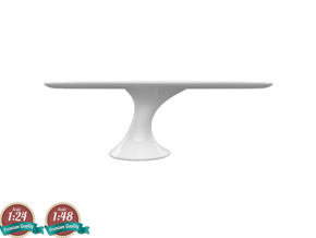 Miniature Reef Table - Cattelan Italia in White Natural Versatile Plastic: 1:24