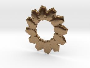 Leafs mandala base shape in Natural Brass