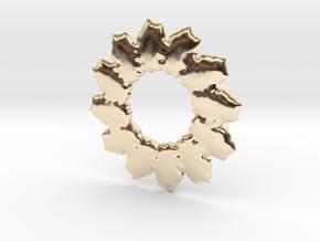Leafs mandala base shape in 14k Gold Plated Brass