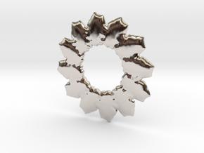 Leafs mandala base shape in Rhodium Plated Brass