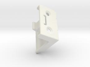 Shade Bracket 301 Delmar Levolor Plastic in White Premium Versatile Plastic
