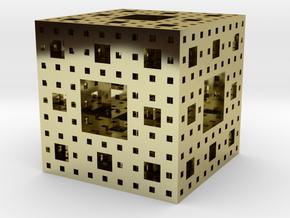 Menger sponge Square Cube in 18k Gold