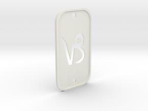 Capricorn (The Mountain Sea-goat) DogTag V2 in White Natural Versatile Plastic
