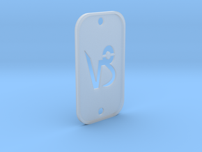 Capricorn (The Mountain Sea-goat) DogTag V2 in Smooth Fine Detail Plastic
