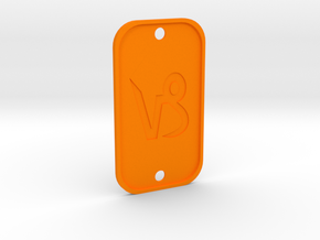 Capricorn (The Mountain Sea-goat) DogTag V4 in Orange Strong & Flexible Polished