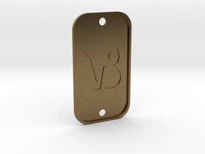 Capricorn (The Mountain Sea-goat) DogTag V4 in Natural Bronze