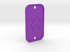 Aquarius (The Water-bearer) DogTag V3 in Purple Processed Versatile Plastic