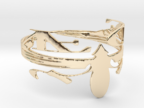 AEOE Brand Special Edition Design in 14k Gold Plated Brass