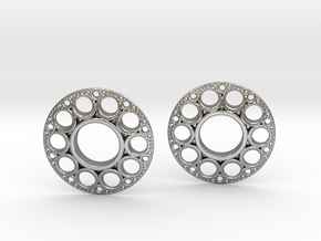 IF KDisc Earrings in Natural Silver