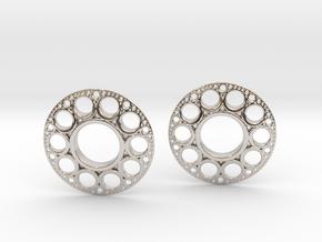 IF KDisc Earrings in Platinum