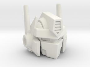 Combiner Wars Optimus Prime MP-10 Styled Head - L in White Premium Versatile Plastic