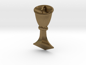 Rider-Waite Cup Pendant in Natural Bronze