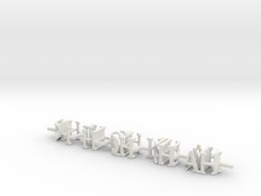 3dWordFlip: -9H-JH-QH-KH-AH-/-AD-2D-3D-4D-5D- in White Natural Versatile Plastic