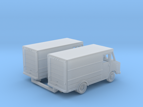 Step Van with Roll Up door 2-pack in Smooth Fine Detail Plastic