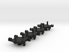 4 plastic chassis pickup guides for Minic Motorway in Black Natural Versatile Plastic
