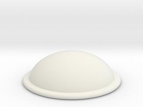 Gem Brooch in White Natural Versatile Plastic