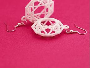 BRILLIANT - earrings in White Natural Versatile Plastic