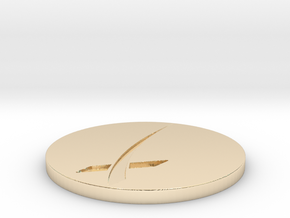 SpaceX Themed Coaster in 14K Yellow Gold