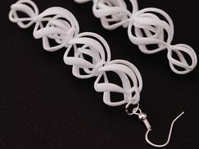 SWIRL - earrings in White Strong & Flexible