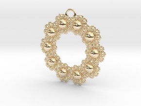 Fractal Roundness in 14K Yellow Gold