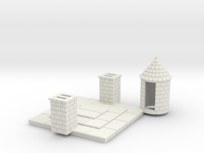 HOF042 - Alternative roof for castle keep N°1 in White Natural Versatile Plastic