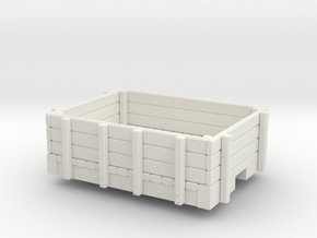 On30 short Gondola car  in White Natural Versatile Plastic