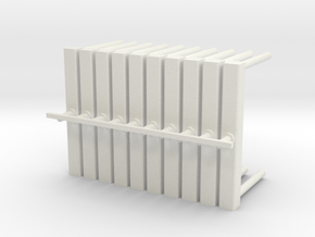 On30 Swiveling timber bolster for short disconnect in White Natural Versatile Plastic