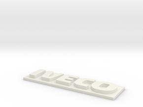 logo IVECO 6mm in White Natural Versatile Plastic