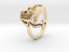 Saint Snow Twin Ring - Leah Kazuno in 14K Yellow Gold: 4 / 46.5