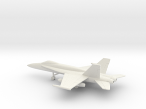 McDonnell Douglas F/A-18A Hornet in White Natural Versatile Plastic: 1:160 - N