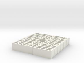 14 blocks for pallet 1/32 in White Natural Versatile Plastic