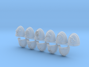 Commission 18 Shoulder Pads in Smooth Fine Detail Plastic