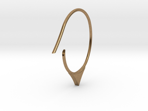 Hoop medium size (SWH6a) in Natural Brass
