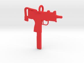 2 UZI Pendant in Red Processed Versatile Plastic