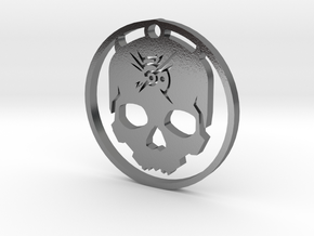 Ketting Outsider Skull in Polished Silver: Medium