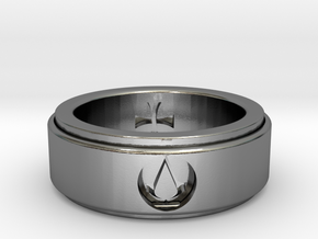 rotating assassins ring in Polished Silver: 6.25 / 52.125