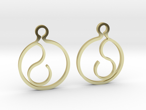 """""""Ask me anything"""" Earrings in 18k Gold Plated Brass"""