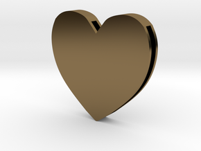 Rebirth Harley Sliding Heart (5 size options) in Polished Bronze: Large