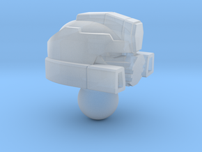 Fizzle Warrior head for Iron Factory Slammer in Smooth Fine Detail Plastic
