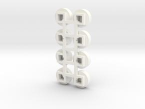 1/64 Circular Bin Roof Vent (8) in White Processed Versatile Plastic