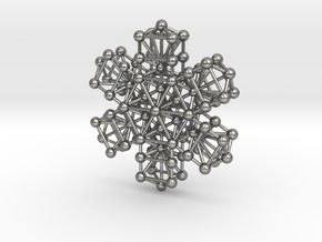 Snowflake of Life v 2.0 in Natural Silver